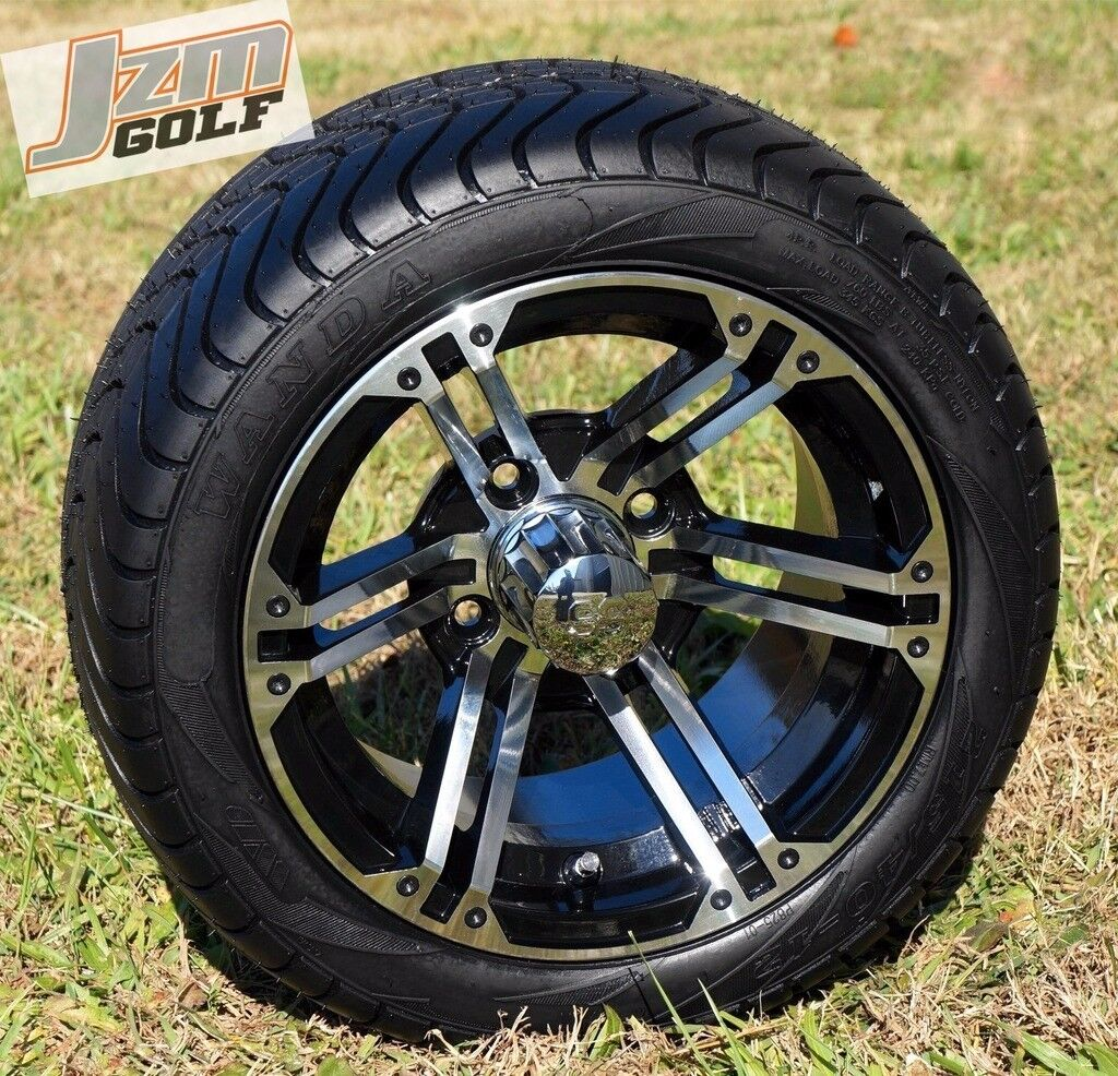golf cart 12 x 7 terminator wheels 215 40 12 dot low profile tires set of 4 ebay. Black Bedroom Furniture Sets. Home Design Ideas