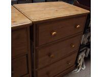Three Drawer Pine Chest Of Drawers