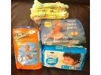 Bundle of size 5 swim pants/nappy's