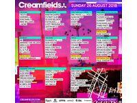 Creamfields 2 x Sunday Day Tickets