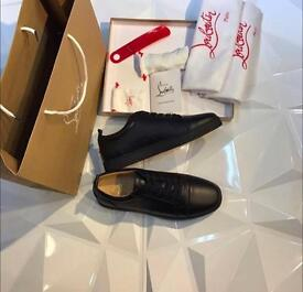 Christian louboutins low leather sneakers