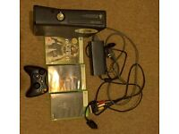 xbox 360 with 3 games and controller