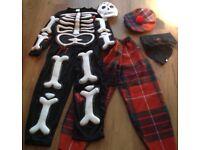 Childrens Dressing Up Costumes Skeleton Celt/Golfer Halloween