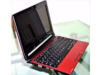 ACER ASPIRE ONE 533 - 10.1 INCH - WINDOWS 7 HOME PREMIUM - 32 BIT - 232GB HARD DRIVE -2GB RAM - RED