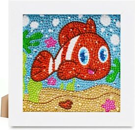 Kids 5D diamond painting kit with frame - Nemo / clown fish BNIB
