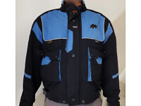BUFFALO Motorcycle Bike Protective Jacket Men's SMALL 38-42 Inch Chest Blue / Black