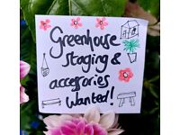 Greenhouse staging & accessiries wanted