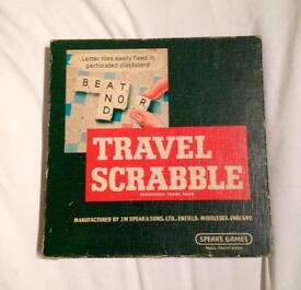 Vintage Spear's Games Travel Scrabble Board Game - Complete And Good Condition.