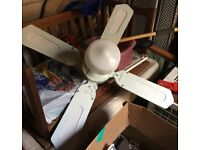 Ceiling fan with light for conservatory