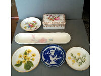 job lot of ceramic trinkets