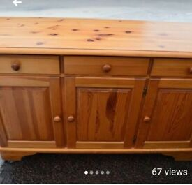Solid pine heavy piece of furniture