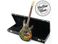 Ernie Ball Music Man John Petrucci JP6 Alan Lee Custom Sludge Finish & G&G Case