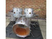 JUGGS DRUM KIT & Hi-Hat Cymbals Full 5 Piece Set American Import Rare & Great Condition