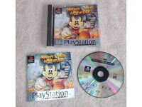 DISNEY MICKEY'S MOUSE WILD ADVENTURE PLAYSTATION PS1 PS2 GAME & MANUAL