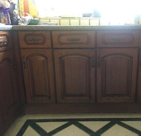Kitchen surface and wooden doors and draws **FOR SALE**