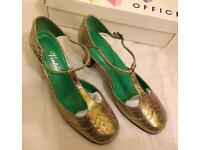 Vintage Office heeled T bar shoes
