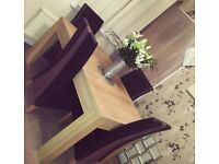 DFS DINING TABLE & CHAIRS