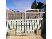 Galvanised kennel sections