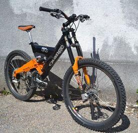 Orange 'Mr O' full suspension mountain bike (not Trek, Kona, Specialized)