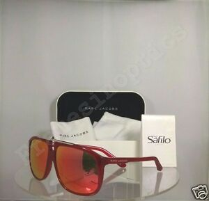 397df505a320 New Authentic Marc Jacobs MJ 252 S Sunglasses SQ1UZ Red Shaded Frame MJ252