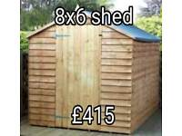 New 8x6 pitched roof shed