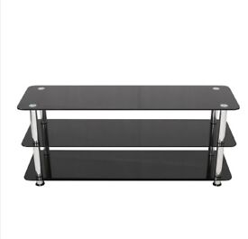 Black Glass TV Stand For LED LCD & Plasma Television (For TV's: 41 up to 60 Inch)