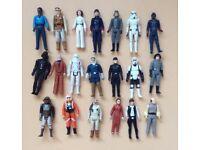 20 Vintage 70/80s Star Wars Figures Lot