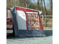 Dorema Highlander freestanding motorhome awning / annex - burgundy red & grey