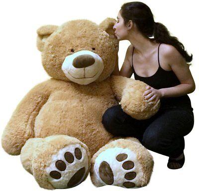 Big Plush Giant 5 Foot Teddy Bear Soft Ultra Premium Quality Hand Stuffed in USA](5 Foot Stuffed Animal)