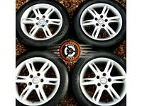 """16"""" Genuine Seat 5 spoke alloys Caddy excellent cond good tyres."""