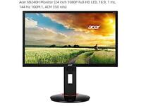 "Acer 24"" gaming monitor"