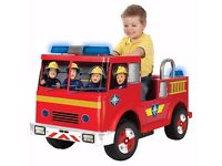 Fireman Sam ride on 12v Fire Engine