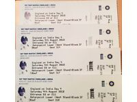 1st Test Match, 4th Day, Sat 4th August 2018, Seats are at West Stand, ENG vs INDIA at Edgbaston
