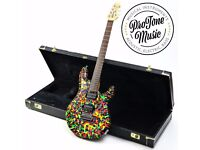 Ernie Ball Music Man John Petrucci JP6 Alan Lee Custom Sludge Finish & G&G Case