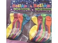 Two packs of age 11 balloons