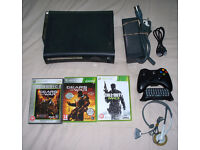 Xbox 360 Elite with 12gb hdd, wireless controller, 3 games and more!!!