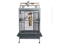 Large Parrot Cage Brand New Rainforest Santos I Play Top Antique Colour (flat packed in two boxes)