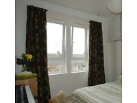 Long (tenement flat window sized) curtains