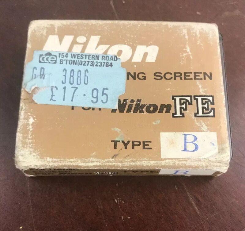 Genuine Nikon Type B Focusing Screen for Nikon FE Cameras - Made in JAPAN NEW