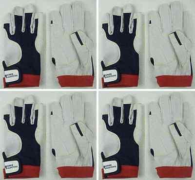 4 Paar Fahrer-Handschuhe AMARA PRO Gr. M Roadiehandschuhe Mechaniker-Handschuhe
