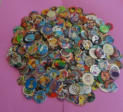 Pogs Milkcaps   1000 Miscellaneous Variety W 10 Slammers And Two 6  Misc Tubes