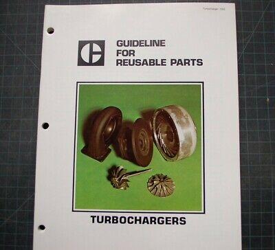Cat Caterpillar Reusable Parts Guide Turbocharger Manual Brochure Service Shop