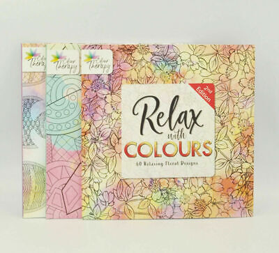 1x Adult Calming Colouring Book Stress Relief Designs Patterns/Floral/Animal