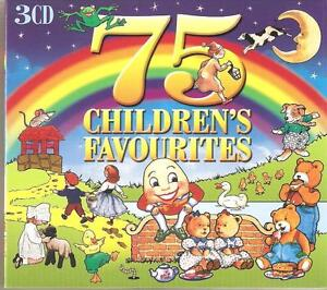 75 CHILDREN'S FAVOURITES - 3 CD BOX SET - THE ALPHABET SONG & MORE