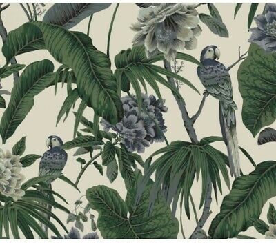 House Of Hackney Paradisa Wall Paper White/Green New Roll