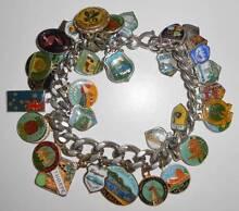 Charm Bracelet with 39 Vintage Travel Charms Coolangatta Gold Coast South Preview