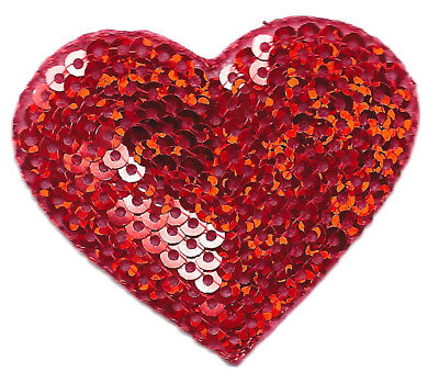 Red Sequin Heart - Heart Red Sequin 1 3/4