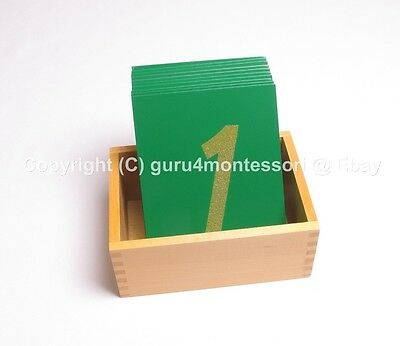 NEW Montessori Mathmatics Material - Sandpaper Numbers / Numerals with Box