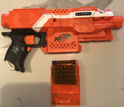 Nerf STRYFE N-strike Elite Blaster Soft Dart Gun W Magazine Toy Mod Battle NERF