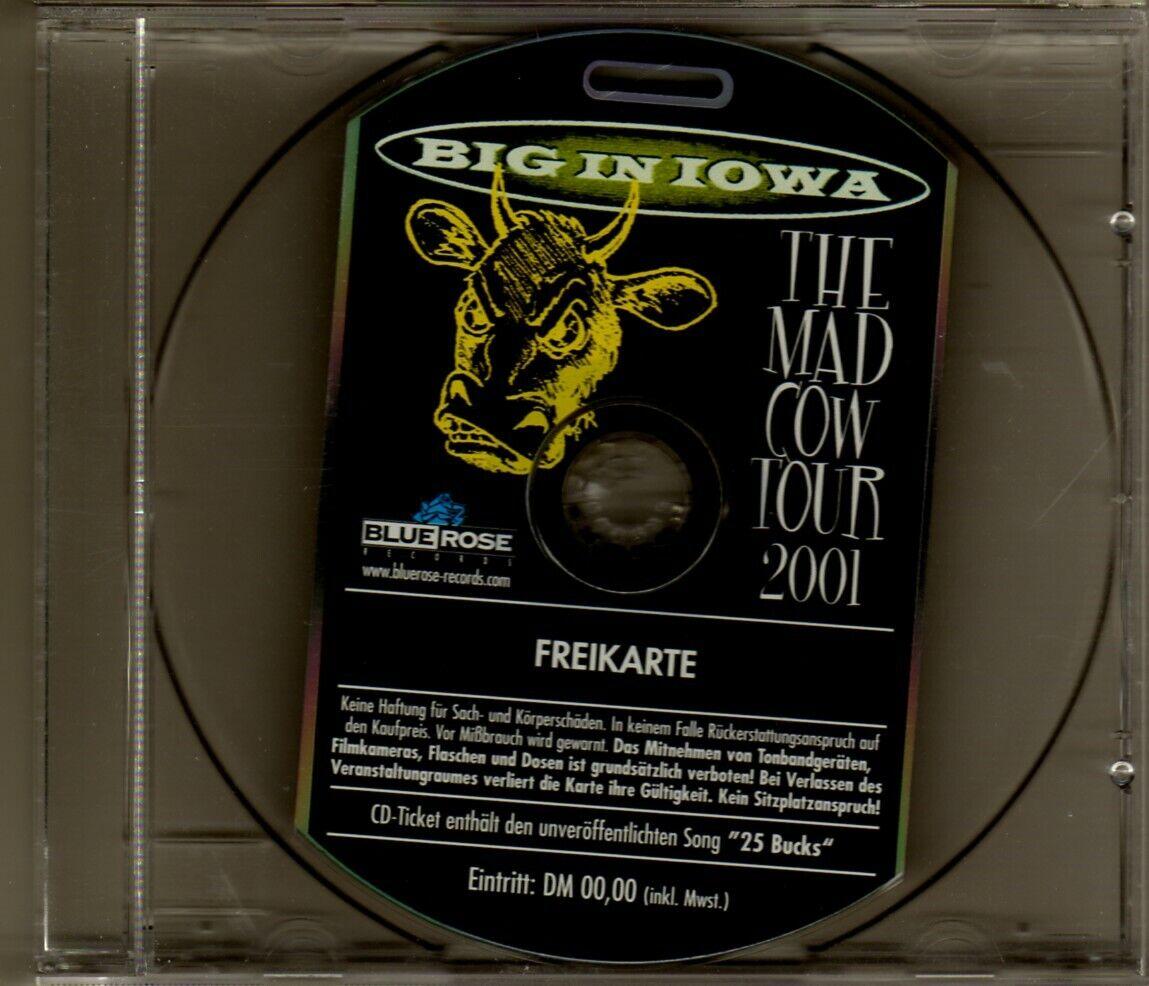 Big In Iowa: Seltenes CD-Ticket Mad Cow Tour 2001